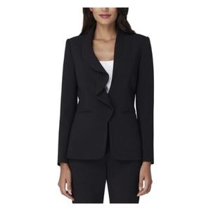 Tahari By ASL Women Blazer Jacket Asymmetrical